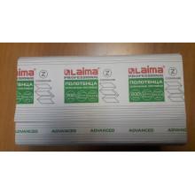 Полотенца бумажные 200 шт., LAIMA (Система H2), ADVANCED, 2-слойные, белые, 24х21,6, Z-сложение