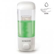 Диспенсер для жидкого мыла LAIMA, НАЛИВНОЙ, 0,5 л, белый, ABS-пластик