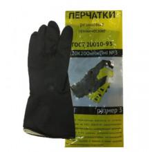 Перчатки КЩС, латексные, тип 1, размер 3
