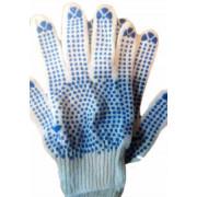 Перчатки х/б 6-ти ниточные с точкой 10 класс