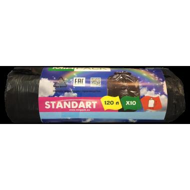 Пакеты для мусора рулон 120л.70х110см Standart