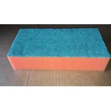Губка для мытья различных поверхностей поролон/абразив, 20см ширина  на 10 см глубина на 4,5см высота